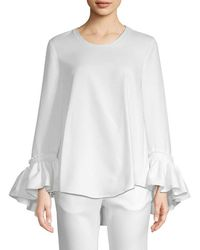 White Story - Alannah Frill Cuff Blouse - Lyst