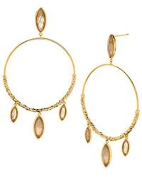 Gorjana - Palisades Loop Drop Earrings - Lyst