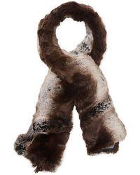 Badgley Mischka - Textured Faux Fur Scarf - Lyst