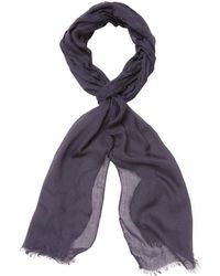 John Varvatos - Collection Solid Color Skinny Crinkle Gauze Scarf - Lyst