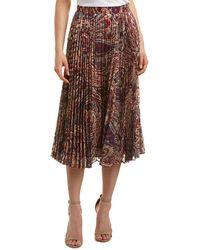 Haute Hippie - Sunburst Flare Midi Skirt - Lyst