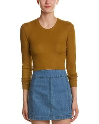 Torn By Ronny Kobo - Ribbed Crop Top - Lyst
