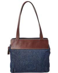 Chanel - Limited Edition Blue Denim Tote - Lyst