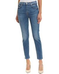 7 For All Mankind - 7 For All Mankind Josefina Powder High-rise Straight Crop - Lyst