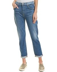 7 For All Mankind - 7 For All Mankind Josefina Powder High-waist Skinny Boyfriend Cut - Lyst