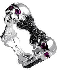 Stephen Webster - Men's Silver Ruby And Sappgire Gemstone 3.06 Ct. Tw. Ring - Lyst