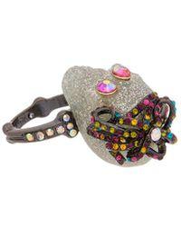 Betsey Johnson - Halloween Cz Glitter & Multi-stone Skull Ring - Lyst