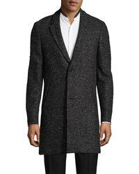 The Kooples - Annibale Tweed Wool-blend Coat - Lyst