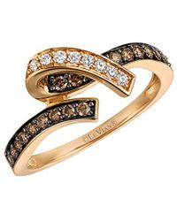 Le Vian - ? Chocolatier? 14k Rose Gold 0.39 Ct. Tw. Diamond Ring - Lyst