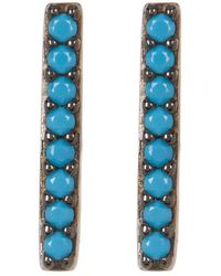 Adornia - Silver And Turquoise Studs - Lyst