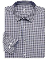 Bugatchi - Long Sleeve Woven Check Shirts - Lyst