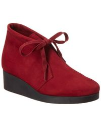 Arche - Hablo Leather Wedge Bootie - Lyst