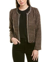 Skies Are Blue Boucle Jacket - Brown