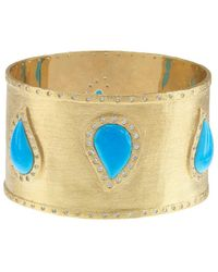 Gottex - 18k Plated Magnesite & Cz Bangle - Lyst