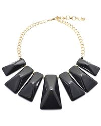 Zenzii - Chic Shape Graduated Resin Collar Necklace - Lyst