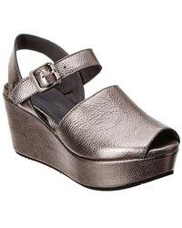 Chocolat Blu - Wagga Leather Wedge Sandal - Lyst