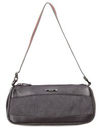 Gucci - Black Canvas Web Shoulder Bag - Lyst