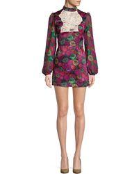 Millie Mackintosh - Floral Mini Dress - Lyst