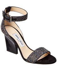 Jimmy Choo - Edina 85 Coarse Glitter Sandal - Lyst