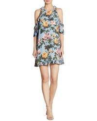 DELFI Collective - Minnie Cold-shoulder Floral-print Dress - Lyst