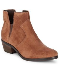 Cole Haan - Alayna Block Heel Leather Bootie - Lyst