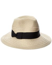 August Accessories - August Hat Company Panama Open Straw Fedora - Lyst