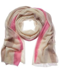 White + Warren White Cashmere Scarf