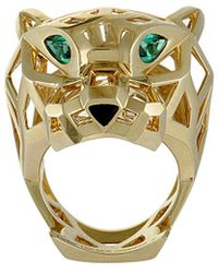 Cartier - Cartier 18k Gemstone Panther Ring - Lyst