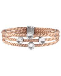 Alor - Classique 18k & Stainless Steel Diamond & Topaz Cable Bracelet - Lyst