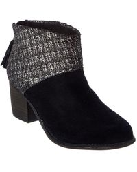 TOMS - Women's Boucle Leila Suede Bootie - Lyst