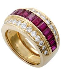 Heritage Van Cleef & Arpels - Van Cleef & Arpels 18k 4.51 Ct. Tw. Ruby Ring - Lyst