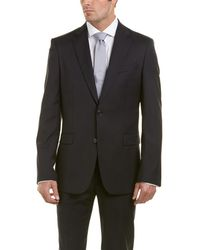 Versace - Wool-blend Suit With Flat Front Pant - Lyst