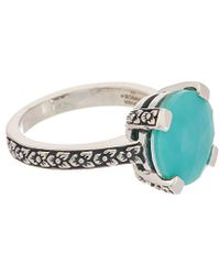 Stephen Dweck - Aurora Silver Crystal Quartz Over Turquoise Ring - Lyst