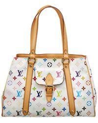 Louis Vuitton - White Monogram Multicolore Canvas Aurelia Mm - Lyst