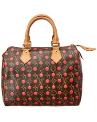 Louis Vuitton - Limited Edition Takashi Murakami Cerises Monogram Canvas  Speedy 25 - Lyst 9c45fb904acf