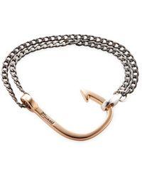 Miansai - Oxidized Hook On Chain Station Bracelet - Lyst