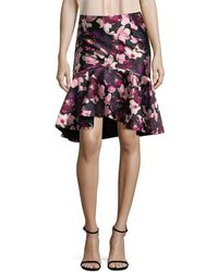 Romance Was Born - Floral High-low Skirt - Lyst