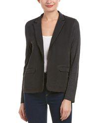 Bailey 44 - Raw Edge Linen-trim Silk Jacket - Lyst