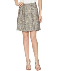 Trina Turk - Laney Tweed Pleated Skirt - Lyst