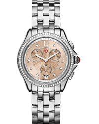 Michele - Women's Belmore Diamond Watch - Lyst