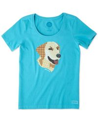 Life Is Good. - Yellow Lab Patchwork Crusher Scoop - Lyst