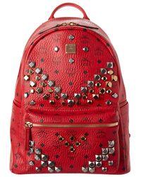 MCM - Stark Medium Studded Visetos Backpack - Lyst