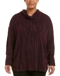 NIC+ZOE - Plus Cowled Knit Top - Lyst