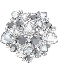 Swarovski - Crystal Fortuna Plated Stainless Steel Brooch - Lyst