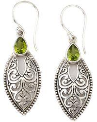 Samuel B. - Silver 0.90 Ct. Tw. Peridot Drop Earrings - Lyst