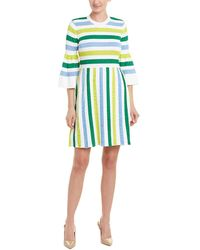 6d05111dc0f Lyst - Alice + Olivia Kellin Ruffle-sleeve Fitted Sweaterdress in White