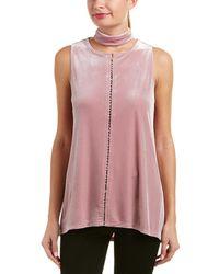3b3769e19e2d6 Lyst - Manila Grace Women s Pink Viscose Top in Pink