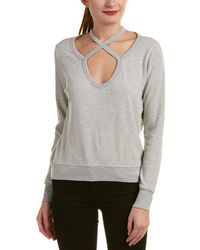 Pam & Gela - Rib Cross Neck Sweatshirt - Lyst