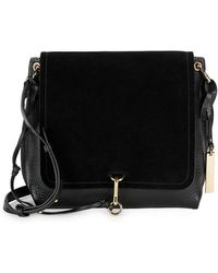 Vince Camuto - Leather & Suede Flap Crossbody - Lyst