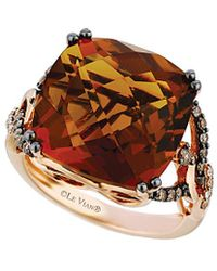 Le Vian - ® Chocolatier® 14k Rose Gold 13.85 Ct. Tw. Diamond & Quartz Ring - Lyst